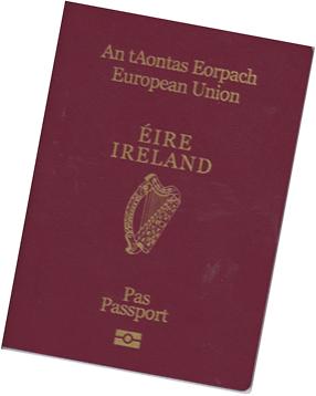 Irish Passport Image